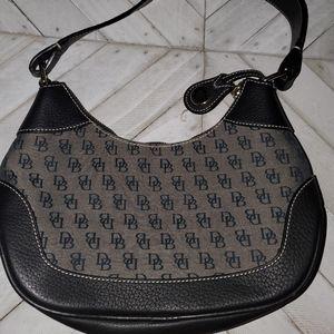 Dooney & Bourke  Black And Gray Handbag